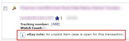 Open Unpaid Item Cas