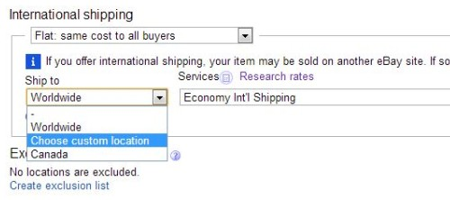 eBay 出品方法 08-03 「送料設定...